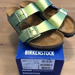 Birkenstock Arizona Birko-flor metallic green sz39